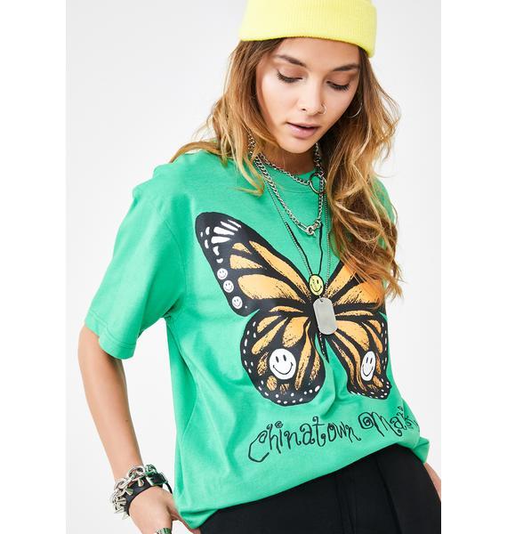 CHINATOWN MARKET Butterfly T-Shirt