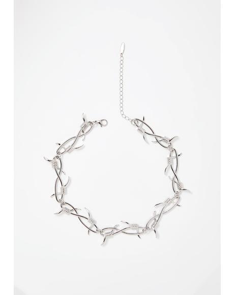 Baddie Bish Barbed Wire Choker
