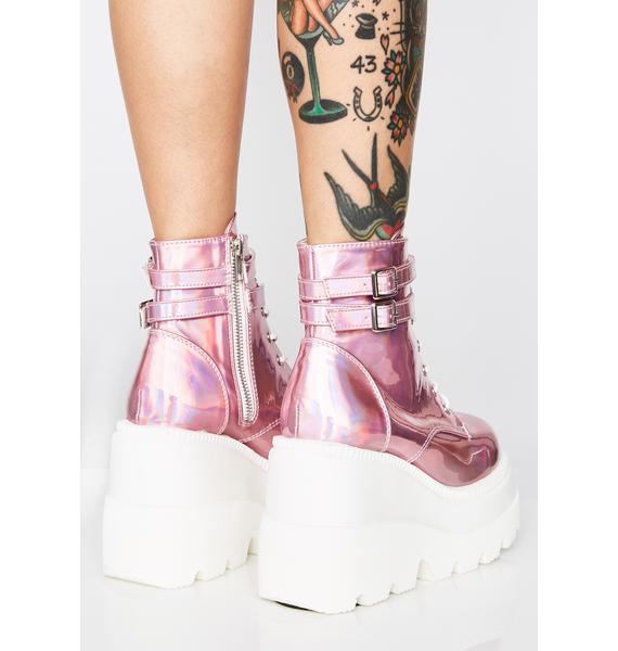 Demonia Cosmic Candy Technopagan Boots