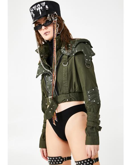 High Neck Bomber Jacket