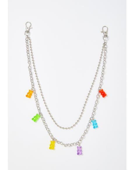 Gummy Bearz Layered Belt Chain