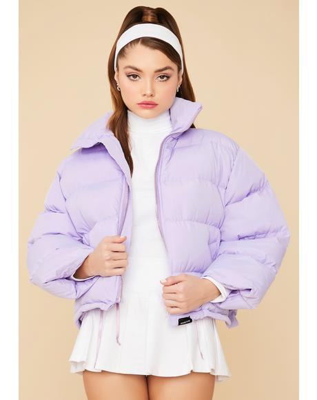 Fairy Cuddle Bug Cropped Puffer Jacket