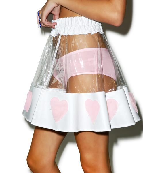 Indyanna Courtney PVC Heart Skirt