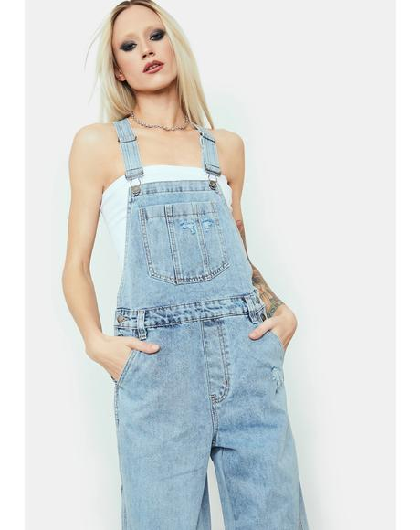 Almost Lover Relaxed Denim Overalls