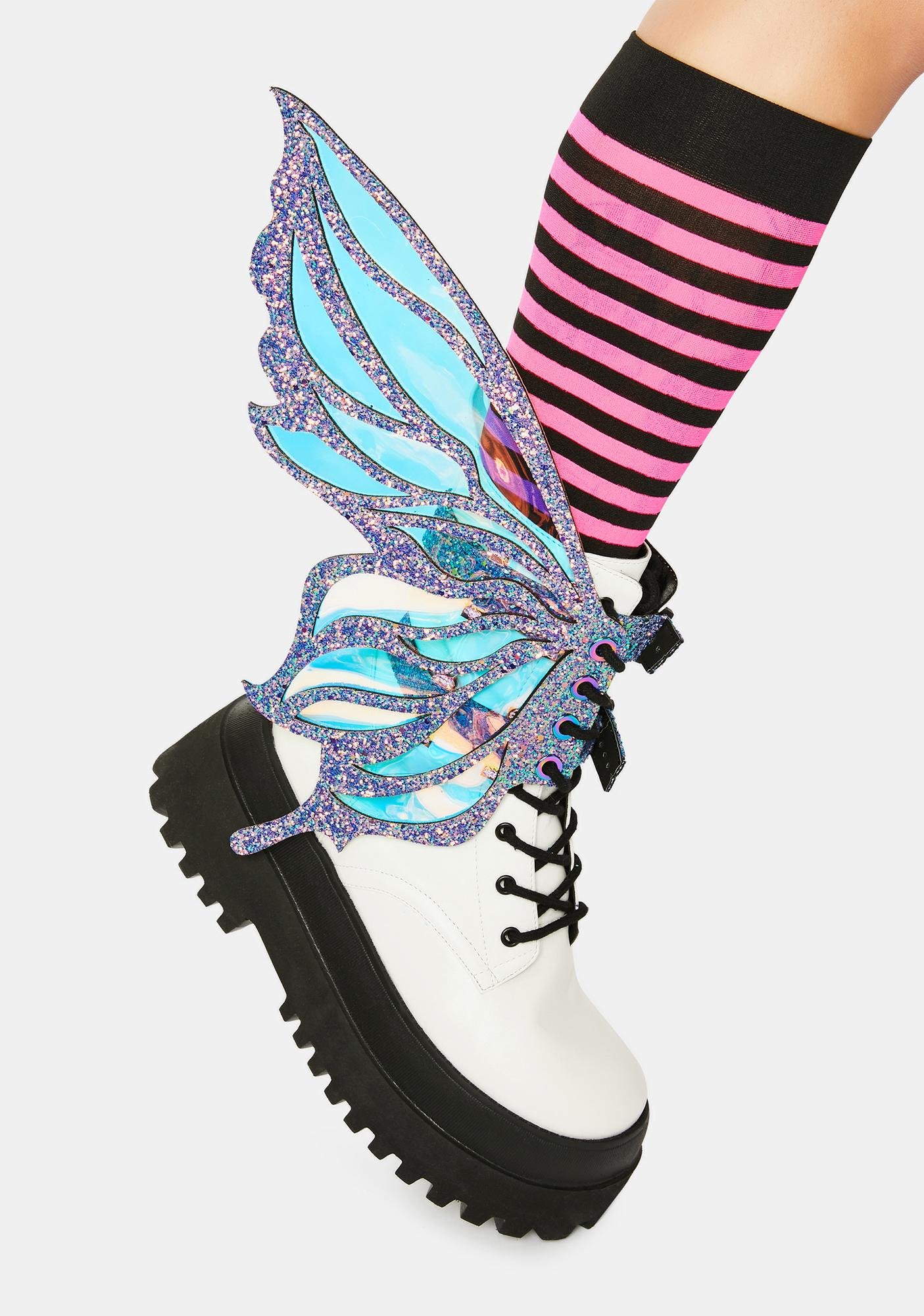 Neva Nude Feyre Glitter Fairy Shoe Wingz