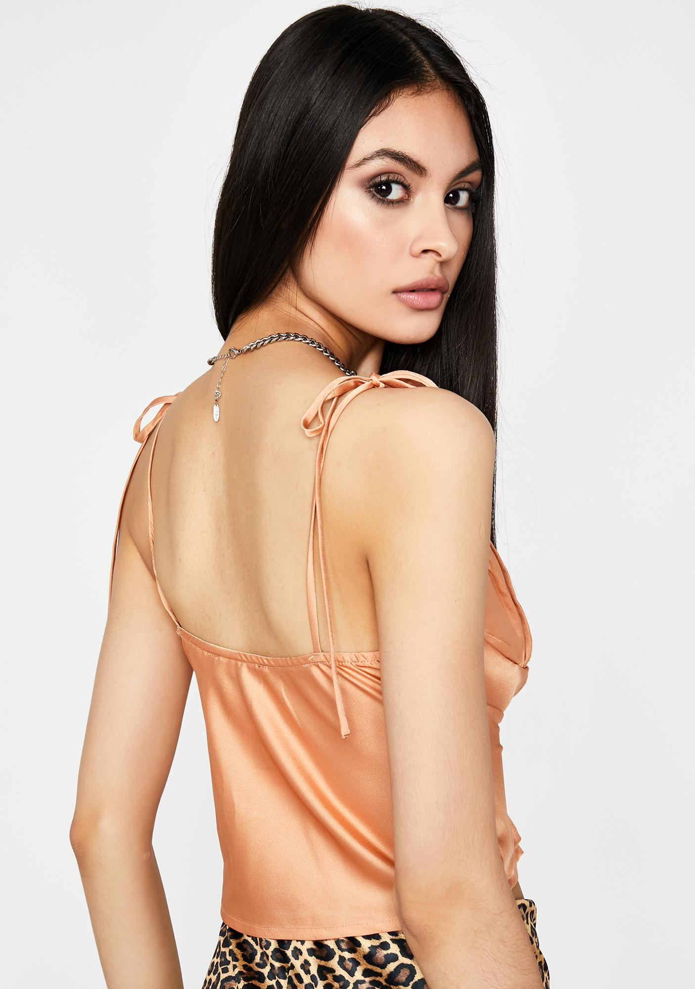 Almond No BS Allowed Satin Top