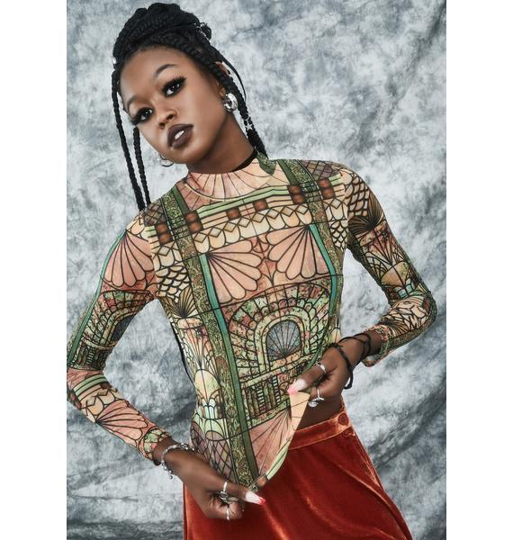 dELiA*s by Dolls Kill Malice Palace Mock Neck Top