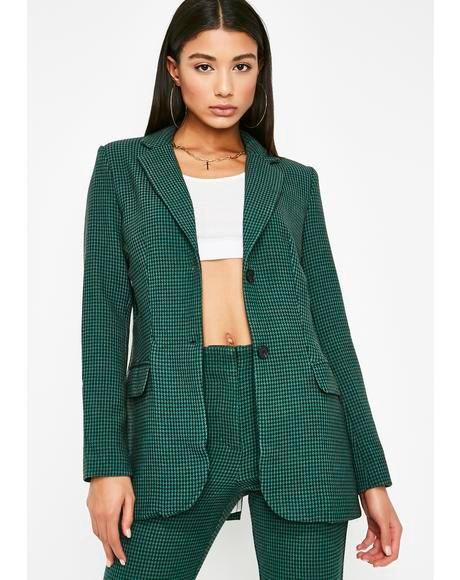 Boss Moves Houndstooth Blazer