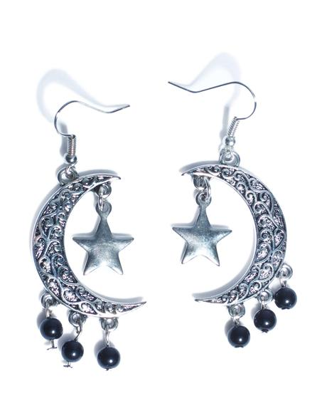Eternal Moon And Stars Earrings