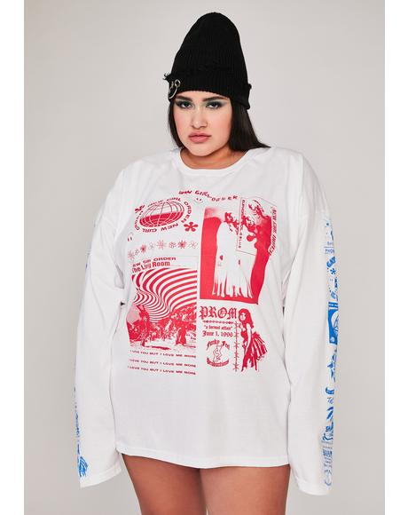 Atomic Rave Flyer Long Sleeve Graphic Tee
