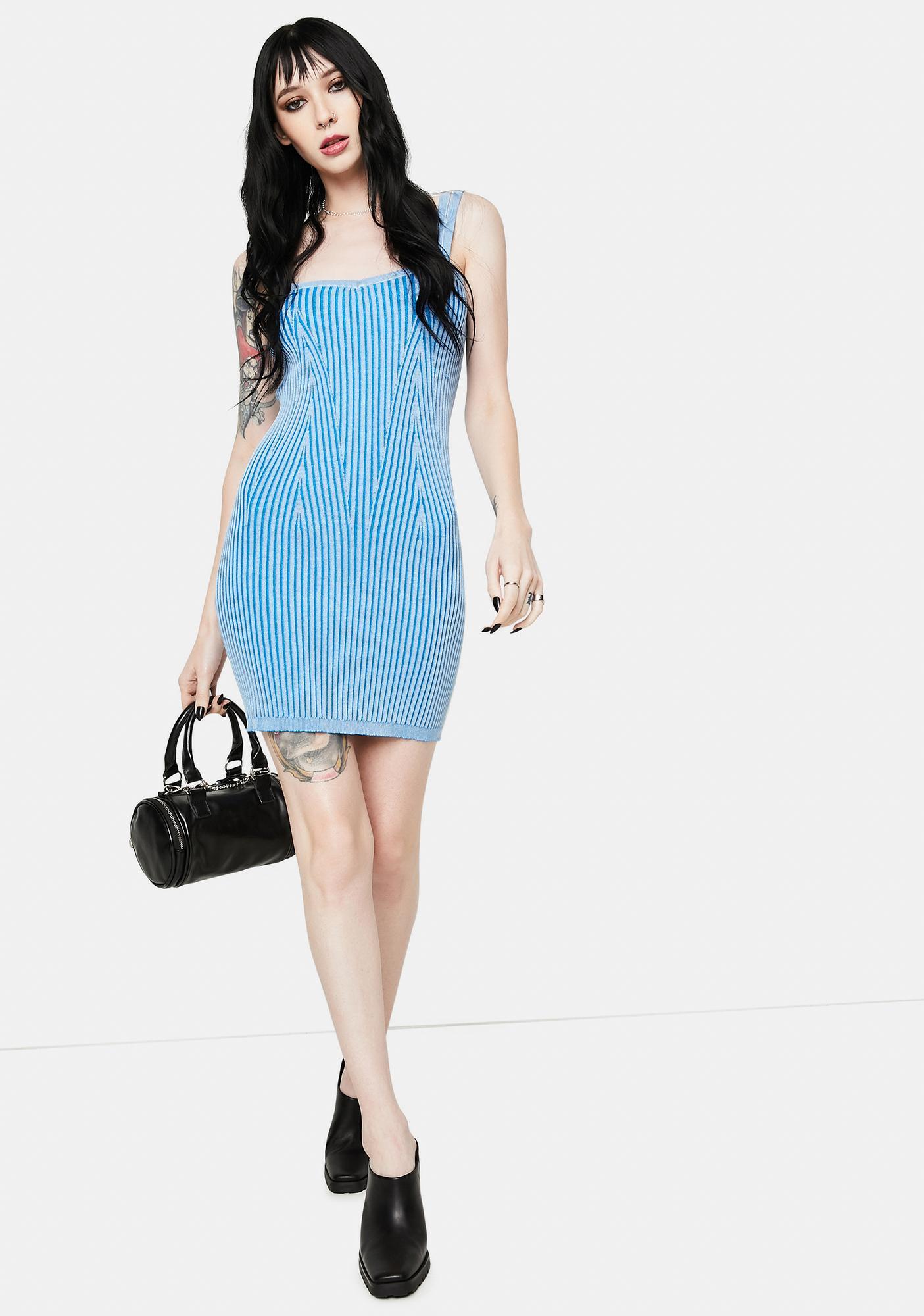 Tell The Truth Ribbed Mini Dress