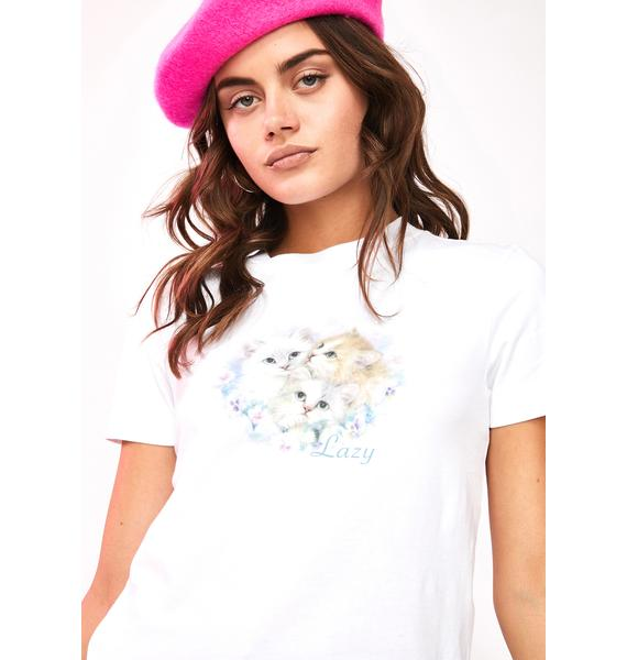 Lazy Oaf Daydreamers Fitted Graphic Tee