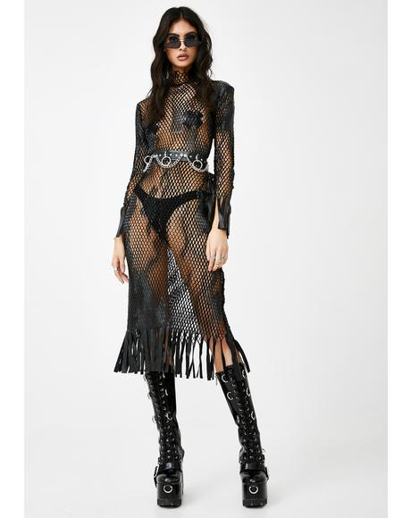 Hidden Shadowz Fishnet Dress