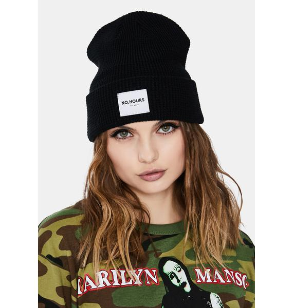 No Hours Lighthouse Knit Beanie