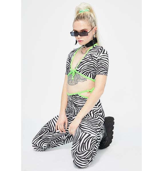 Babydol Clothing  Christina Zebra Crop Top