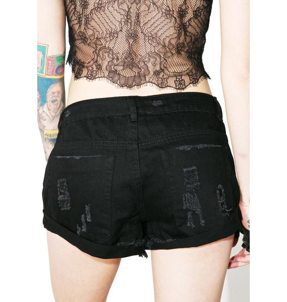 Bad Behavior Distressed Shorts