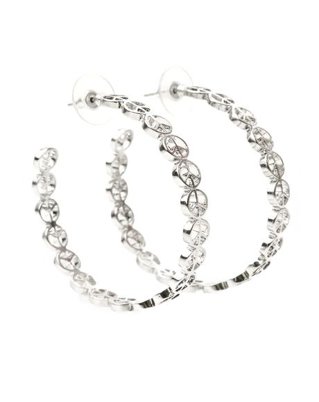 Keep The Peace Hoop Earrings