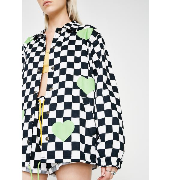 Trap Their Hearts Checkered Jacket