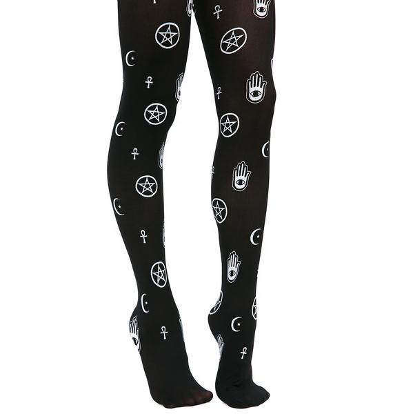 Call The Spirits Patterned Tights