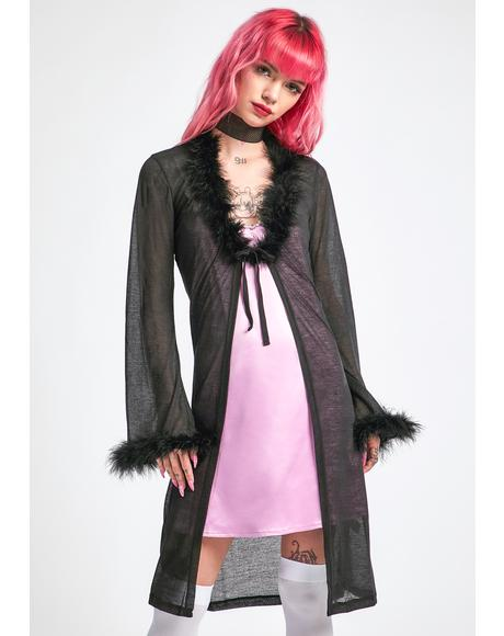 Got The Gossip Marabou Robe