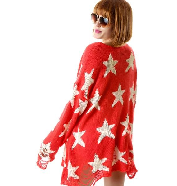Wildfox Couture Seeing Stars Winter Lennon Sweater