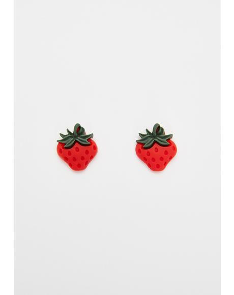 Berry Double Trouble Stud Earrings