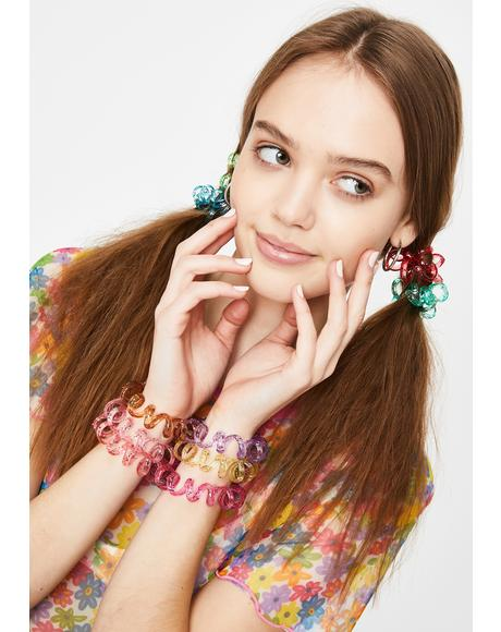 Outta Control Glitter Hair Ties Set
