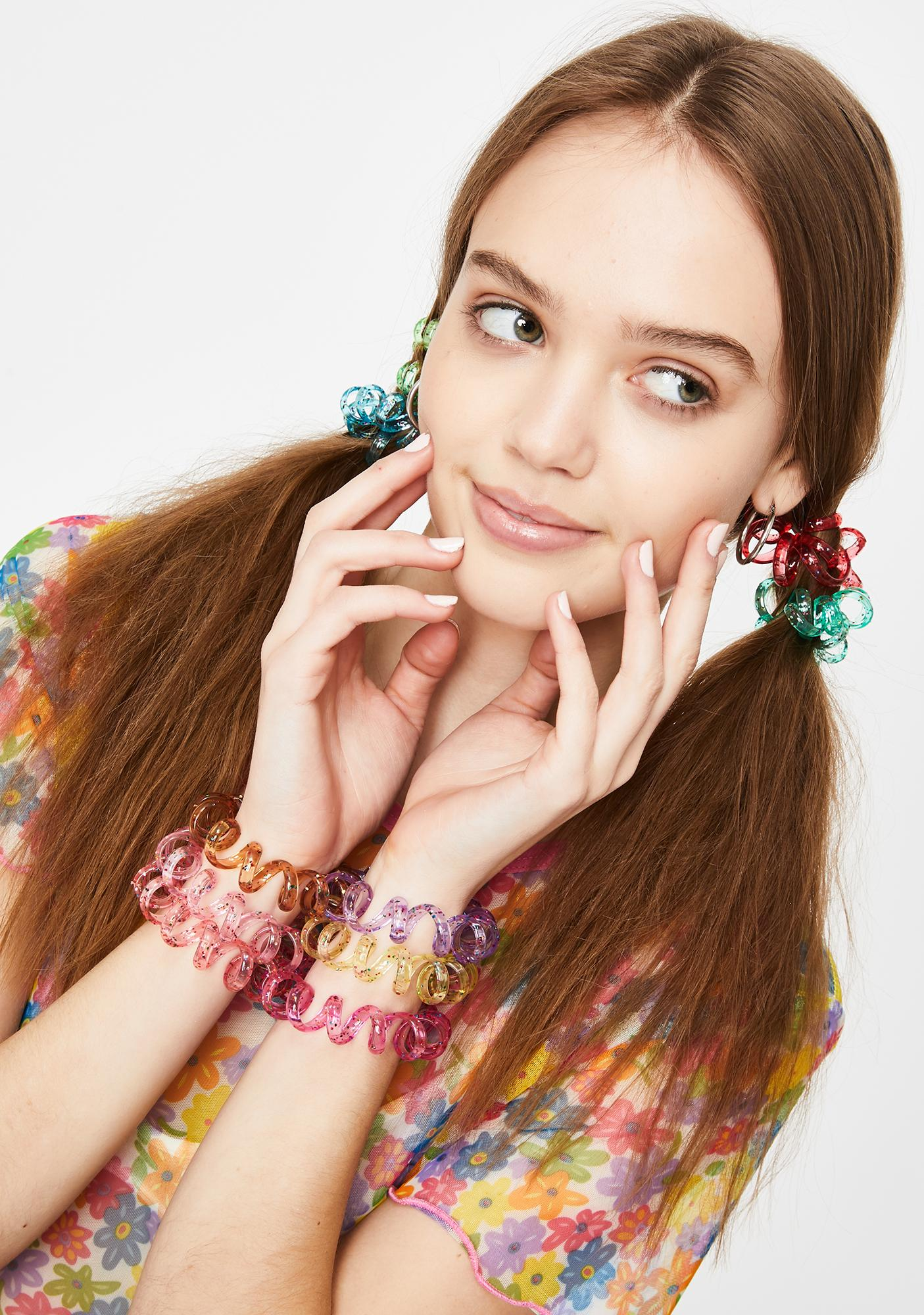 Outta Control Glitter Hair Ties Set