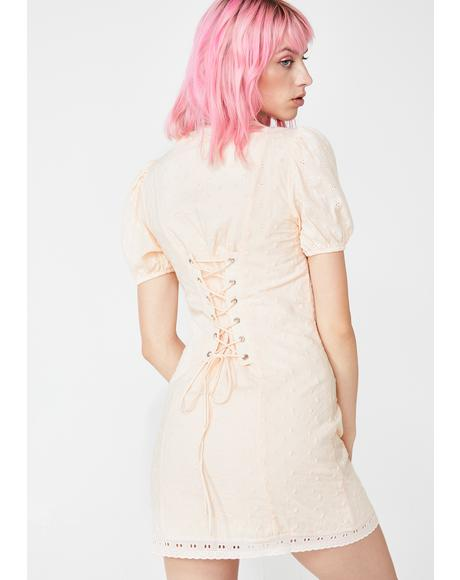 Peachy Keen Corset Dress