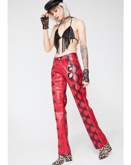 Bite Me Snakeskin Pants