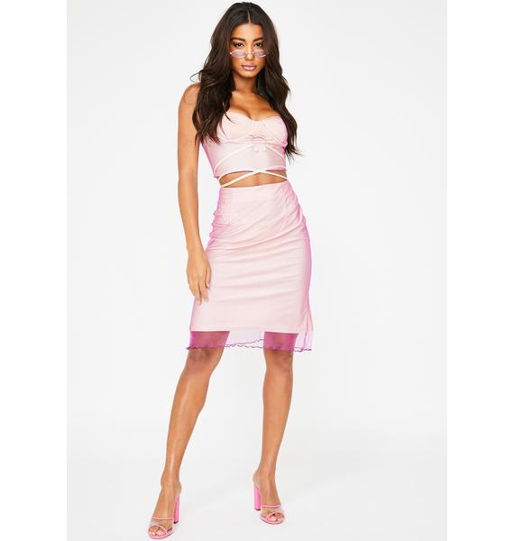 ZYA Sugar Plum High Waist Skirt