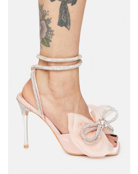 Sugarcoat Diamante Bow Heels