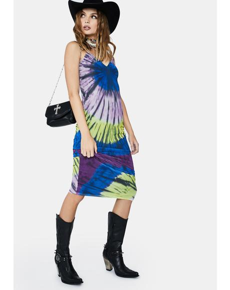 Night Halo Tie Dye Amina Maxi Dress