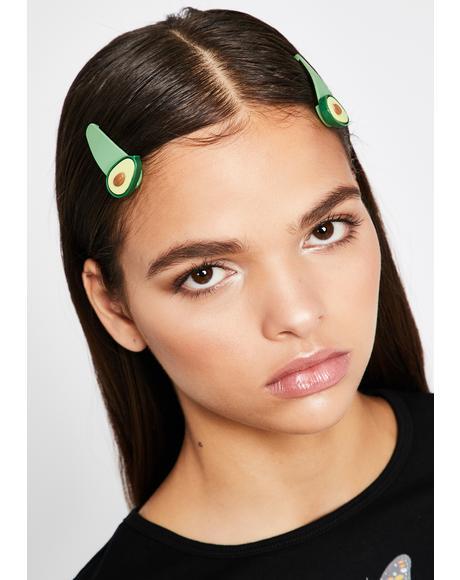 Let's Avocuddle Hair Clips