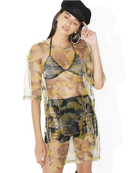 Predator Sheer T-Shirt Dress