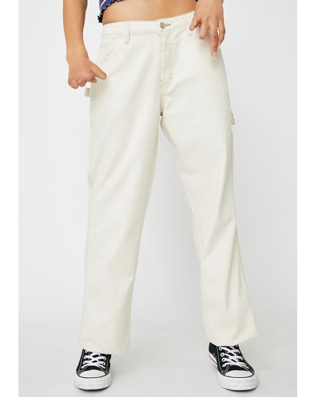 Natural Carpenter Pants