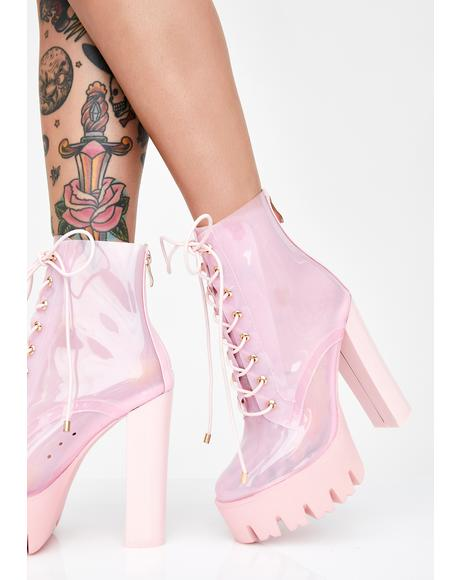 Run Away With Me Clear Booties