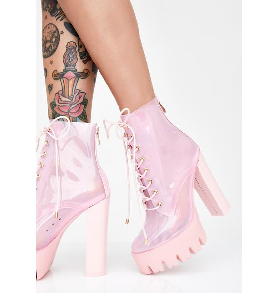 AZALEA WANG Run Away With Me Clear Booties