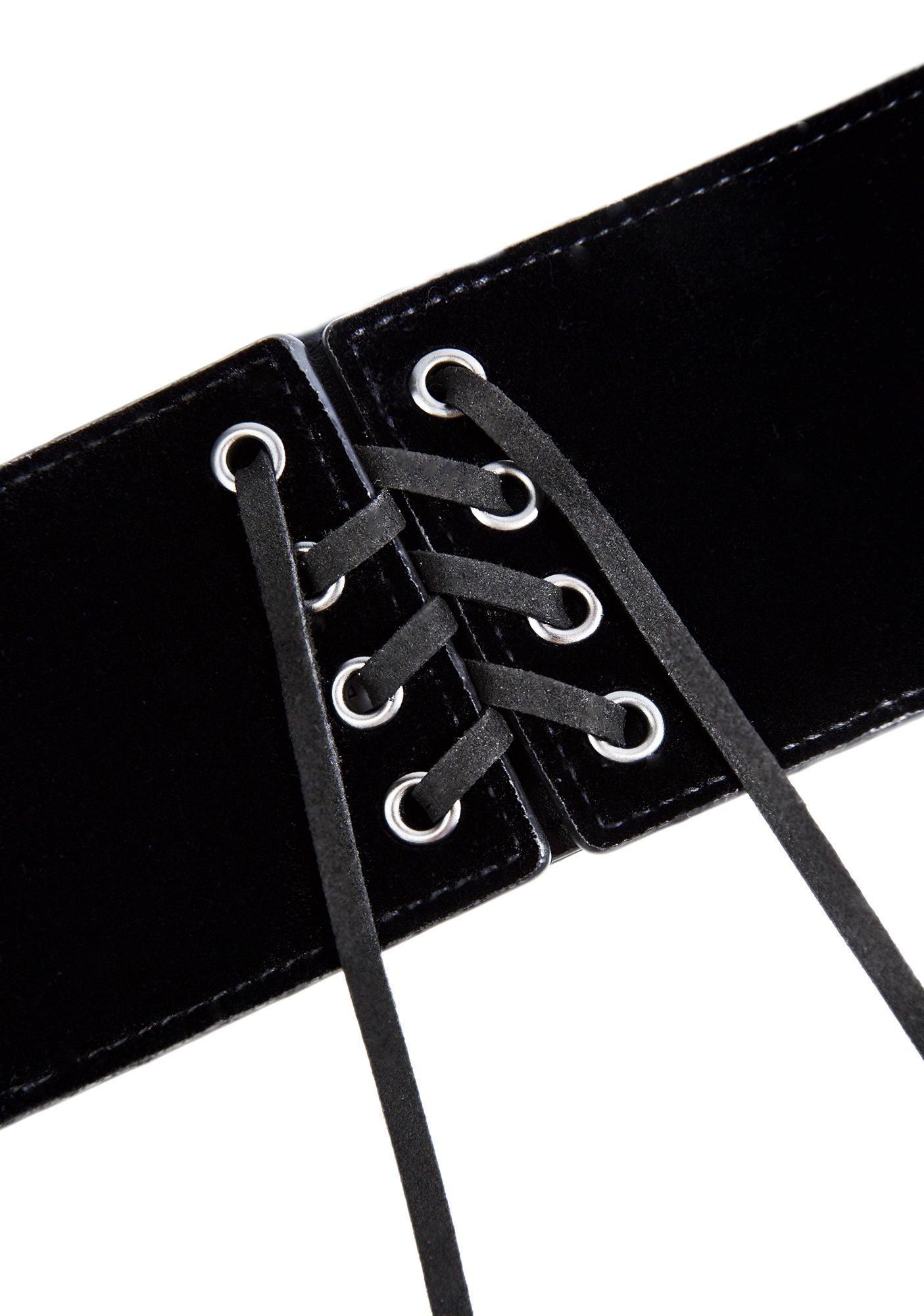 Blixx Velvet Corset Belt