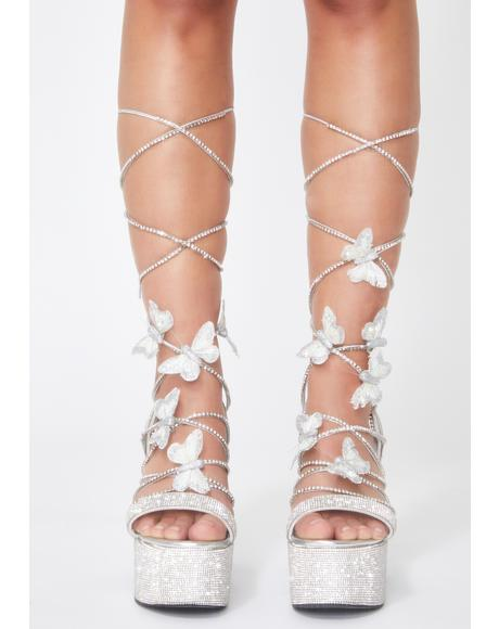 Blindin' Pixie Queen Lace Up Heels