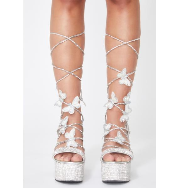 Poster Grl Blindin' Pixie Queen Lace Up Heels