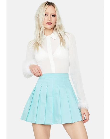 Powder Just Like Candy Pleated Skirt