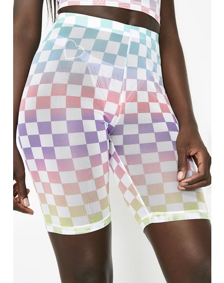 Coutin' Checks Biker Shorts
