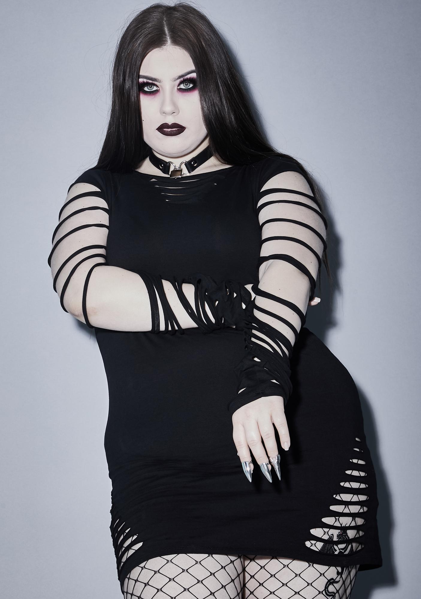 Widow Her Portal To Hell Shredded Dress