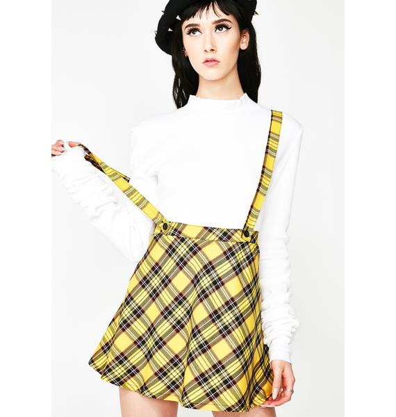 Tripp NYC Mello Suspender Skater Skirt
