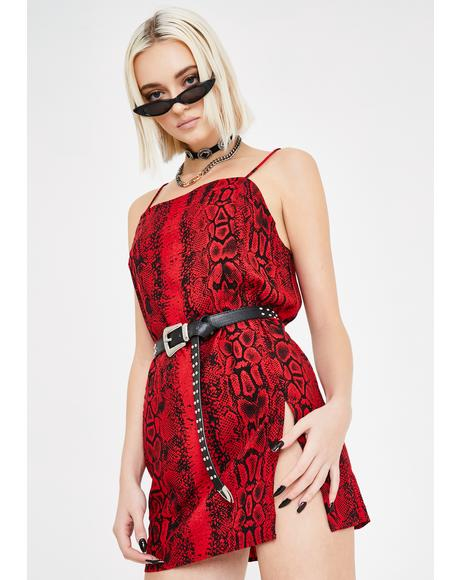 Red Snake Datista Dress