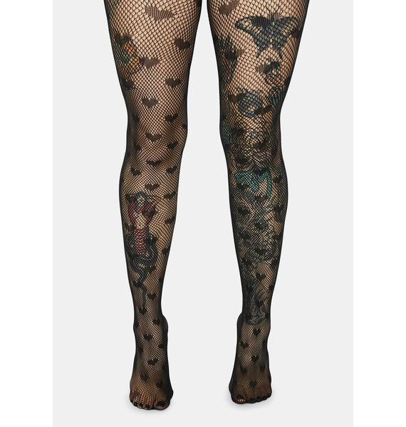 My Heart Is For You Fishnet Tights