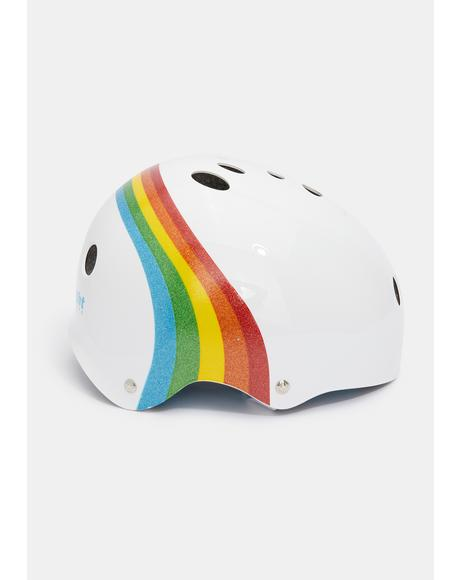 White Rainbow Sparkle Certified Sweatsaver Helmet