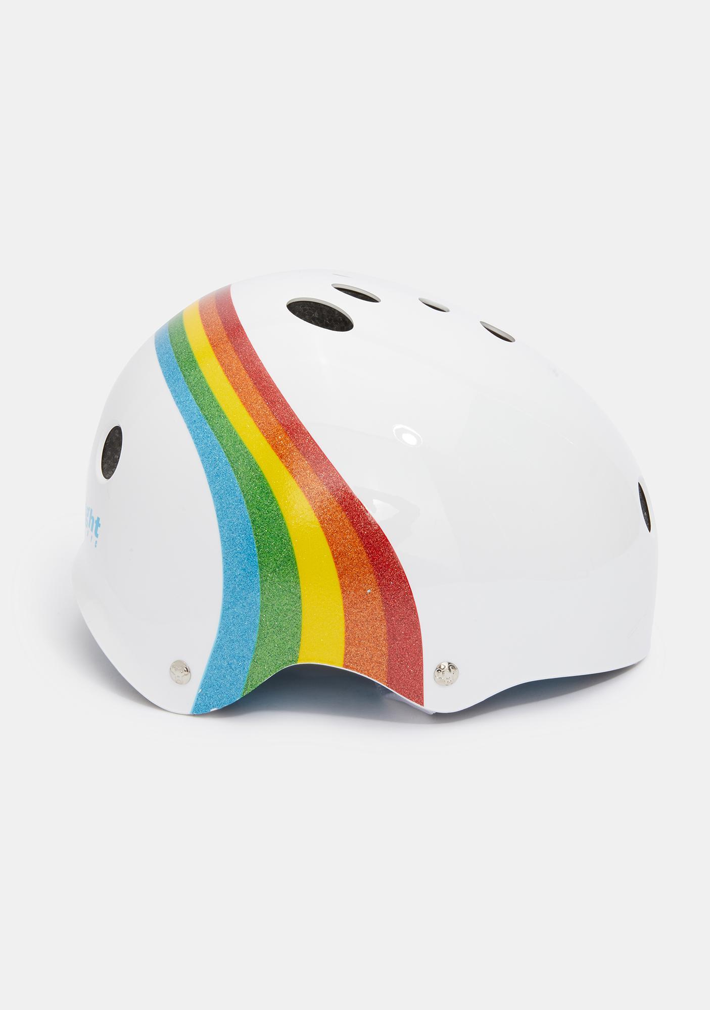 Triple Eight   White Rainbow Sparkle Certified Sweatsaver Helmet