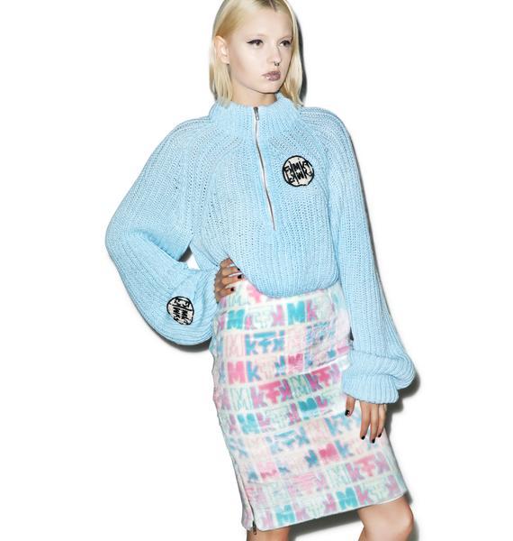 Maria ke Fisherman Pastel Fuzziness Logo Skirt